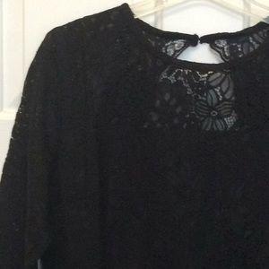 LOFT Dresses - Lace open-back dress from Loft, NWT, black, 10